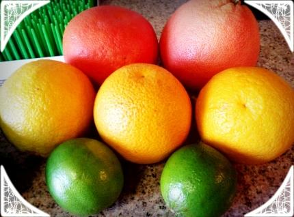 Grapefruit Cranberry Ingredients