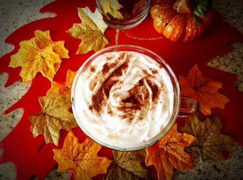 pumpkin spice latte whip